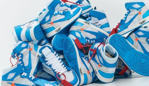 "【WEB抽選追記】【OFF-WHITE × NIKE】VIRGIL ABLOH × AIR JORDAN 1 ""POWDER BLUE"""