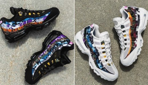 "【NIKE】8月4日発売予定 AIR MAX 95 ERDL PARTY ""Black White/Multi"""