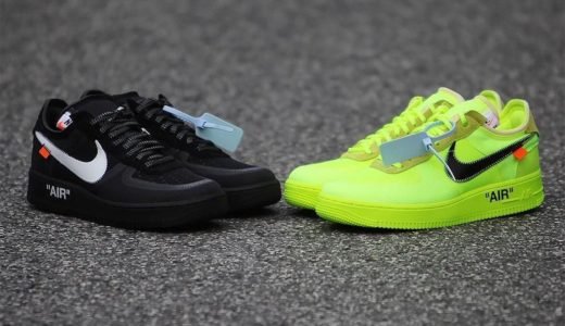"【Off-White™ × NIKE】12月19日(水)発売予定 AIR FORCE 1 ""BLACK"" & ""VOLT"""