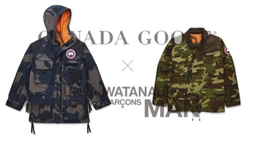 【CANADA GOOSE × JUNYA WATANABE COMME DES GARCONS】コラボアイテムが3月21日に発売予定