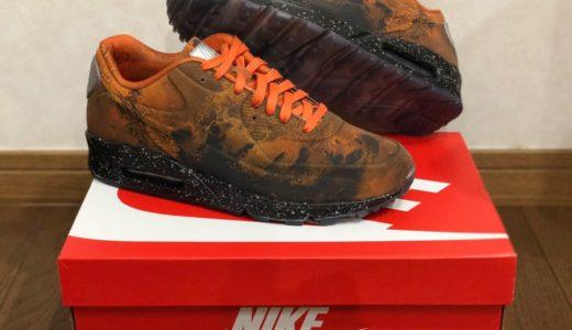 """【レビュー】Nike Air Max 90 QS """"Mars Landing"""" 光り方・サイズ感・履き心地など"""