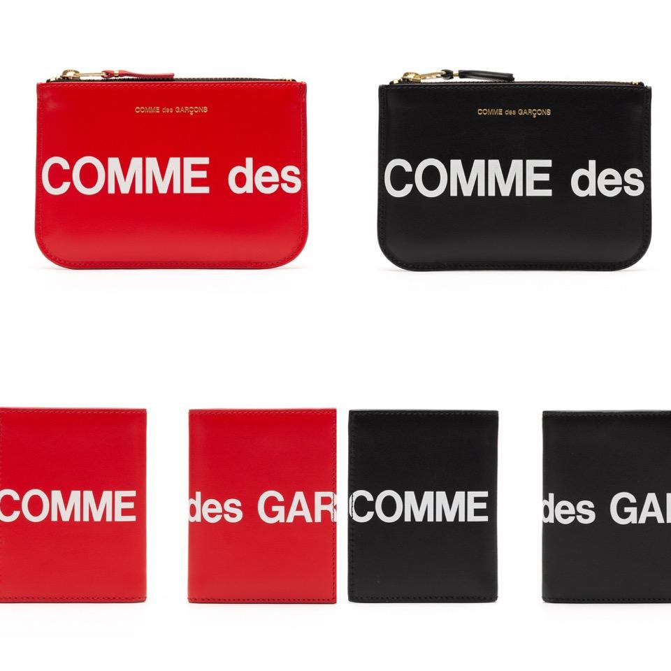 44aa2a5e5787 一瞬、人気ストリートブランドSupremeを思わせるかのような、ロゴを前面に押し出したデザイン、カラーリングの長財布、二つ折り財布、コインケース、 カードケース全6型 ...