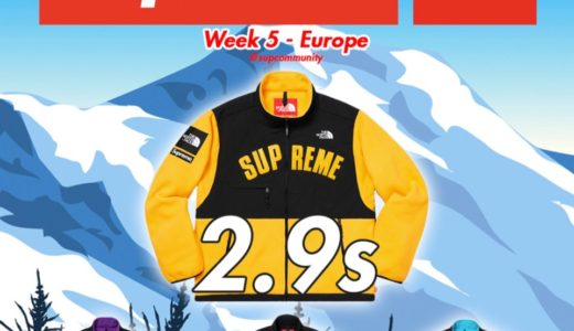 【Supreme】2019SS WEEK5 EU ヨーロッパでの完売タイムランキングと考察