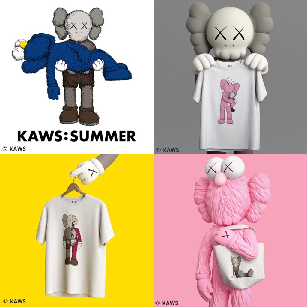 UNIQLO KAWS Sesame Street Graphic T-shirt for KIDS JAPAN Limited 2018 NEW F//S