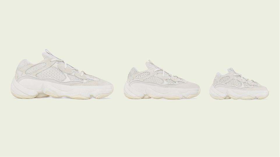 "adidas】YEEZY 500 新色 ""BONE WHITE""が"