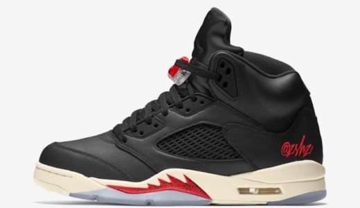 【Nike】Air Jordan 5 SP Black/Muslin-Fire Redが2020年2月に発売予定