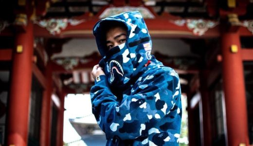 【BAPE®︎】GRADATION CAMO SHARK MASK WIDE ZIP HOODIEが8月10日に発売予定