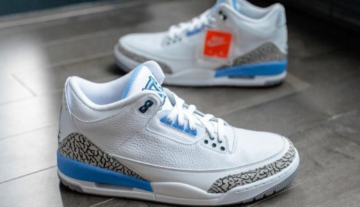 "【Nike】Air Jordan 3 Retro ""UNC""が2020年3月7日に発売予定"
