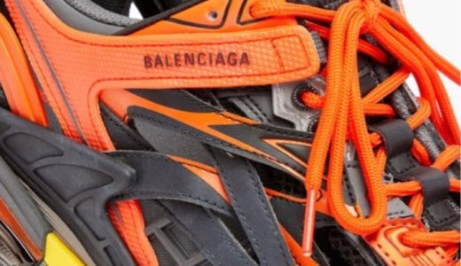 【BALENCIAGA】「TRACK.2」にオレンジカラーの新色モデルが登場