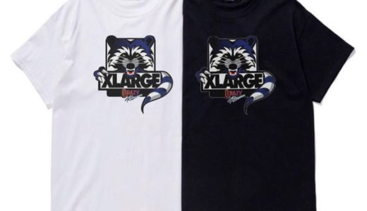 【XLARGE®︎ × Crazy Raccoon】最新コラボTシャツが9月28日に限定発売予定