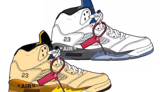 【Off-White™ × Nike】Air Jordan 5 Retroが2020年2月に発売予定