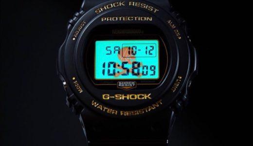 【NEIGHBORHOOD × G-SHOCK】最新コラボウォッチ DW-5750Eが10月13日に発売予定