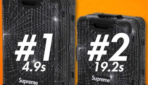 【Supreme】2019FW WEEK12 US アメリカでの完売タイムランキングが公開