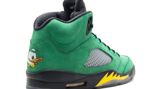 """【Nike】Air Jordan 5 Retro """"Oregon Ducks""""が2020年秋に発売予定"""
