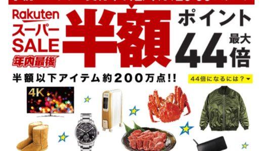 【楽天スーパーセール】12月11日AM1:59まで開催 人気ブランドのアパレル・スニーカーなどが半額以上の大セール