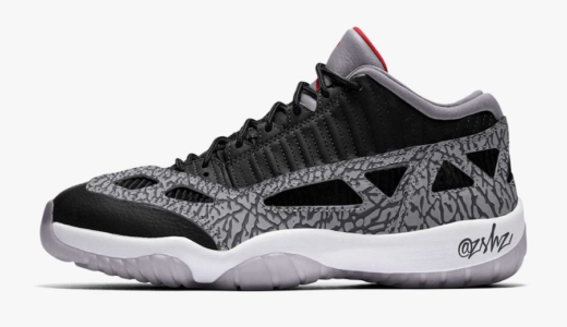 "【Nike】Air Jordan 11 Low IE ""Black Cement""が7月9日に発売予定"