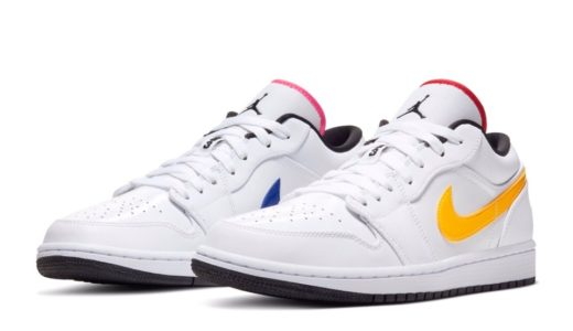 "【Nike】Air Jordan 1 Low ""White/Multi Color""が2020年2月に発売予定"