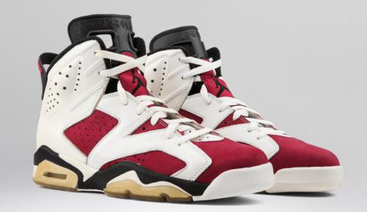 """【Nike】NBA初制覇時着用モデル Air Jordan 6 Retro OG """"Carmine""""が2021年2月13日に復刻発売予定"""