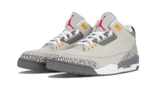 """【Nike】Air Jordan 3 Retro """"Cool Grey""""が2021年初旬に復刻発売予定"""