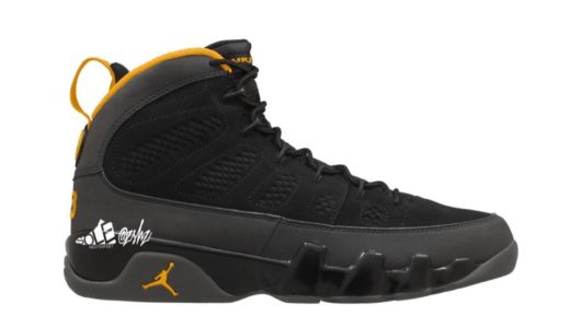 """【Nike】Air Jordan 9 Retro """"University Gold""""が2021年初旬に発売予定"""