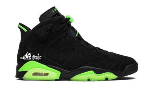"【Nike】Air Jordan 6 Retro ""Black/Electric Green""が2021年夏に発売予定"