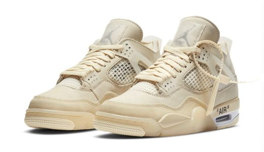 "【Off-White™ × Nike】Wmns Air Jordan 4 Retro SP ""Sail""が2020年7月25日に発売予定"
