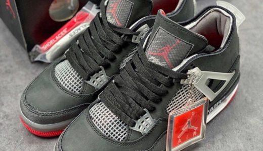 "【Off-White™ × Nike】Air Jordan 4 Retro SP ""Bred""が2021年10月に発売予定か"