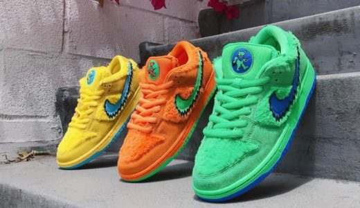 "【Nike SB × Grateful Dead】Dunk Low Pro QS ""Dancing Bear""が国内7月23日/7月24日に発売予定"