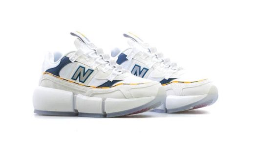 "【Jaden Smith × New Balance】Vision Racer ""White/Navy/Yellow""が8月10日に発売予定"