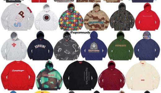 【Supreme】2020年秋冬コレクションに登場するスウェットシャツ(Sweatshirts)