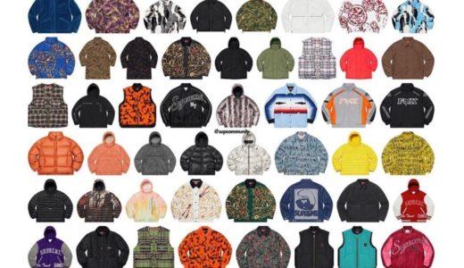 【Supreme】2020年秋冬コレクションに登場するジャケット(Jacket)