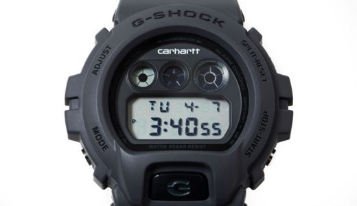 【Carhartt WIP × G-SHOCK】初となるコラボ腕時計〈DW-6900〉が2020年8月22日に発売予定