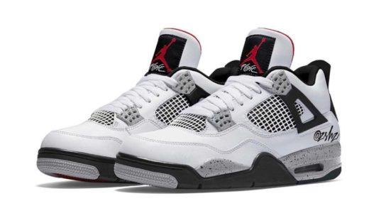 "【Nike】Air Jordan 4 Retro ""White Cement""が2021年5月29日に復刻発売予定か"