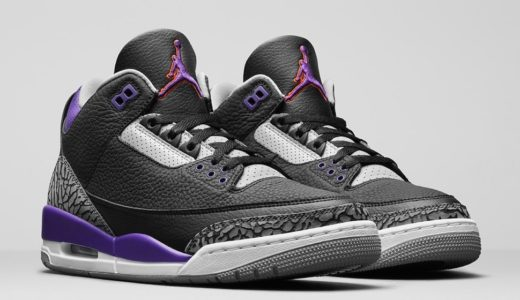 "【Nike】Air Jordan 3 Retro ""Court Purple""が2020年11月21日に発売予定"