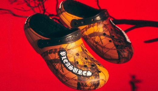 【PLEASURES × Crocs】Mossy Oakの迷彩柄を使用したコラボサンダルが9月10日/10月8日に発売予定