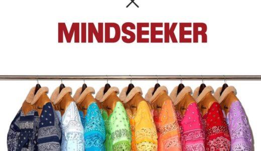 【RMFB × mindseeker】ワンオフペイズリー柄ダウンジャケットが10月31日に発売予定