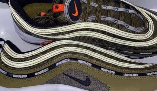 【UNDEFEATED × Nike】Air Max 97 全3色が2020年12月に発売予定