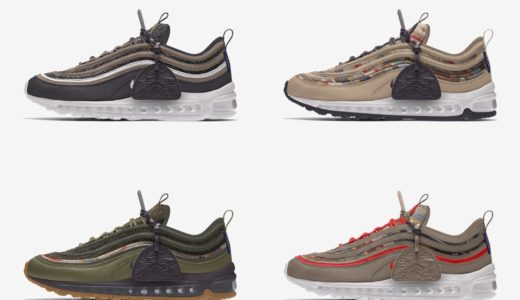 【Nike】カスタム可能なAir Max 97 Pendleton By Youが国内10月6日に発売予定