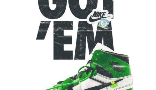 "【Off-White × Nike】Signing Dayに向けたAir Jordan 1 High PE ""Oregon Ducks""の画像が投稿される"