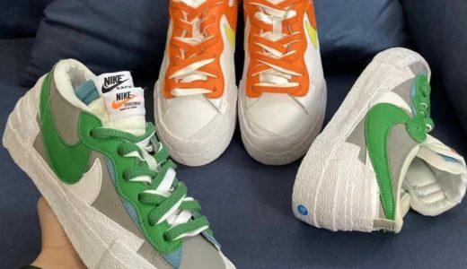 【Sacai × Nike】Blazer Lowが2021年2月に発売予定
