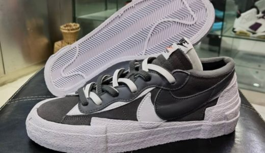"【Sacai × Nike】Blazer Low ""Iron Grey/White""が2021年春に発売予定"