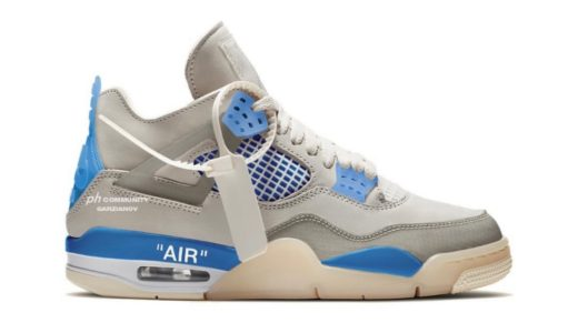 "【Off-White™ × Nike】Air Jordan 4 Retro SP ""Military Blue""が2021年に発売予定か"