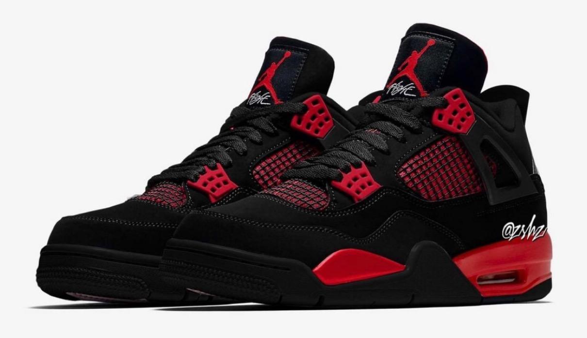 """【Nike】Air Jordan 4 Retro """"Red Thunder""""が2021年10月2日に発売予定"""