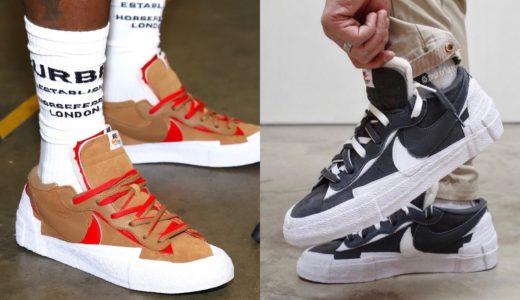 """【Sacai × Nike】Blazer Low """"Iron Grey"""" & """"Light British Tan""""が国内7月29日/7月31日に発売予定"""