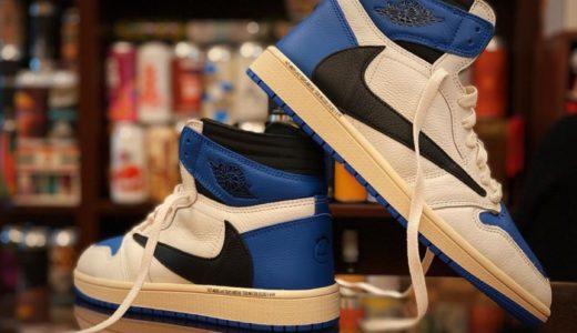 """【Travis Scott × Fragment × Nike】Air Jordan 1 Retro High OG SP """"Military Blue""""が2021年秋頃に発売予定か"""