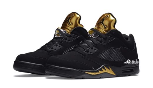 "【Nike】Air Jordan 5 Low ""Black/Metallic Gold""が2021年5月に発売予定"