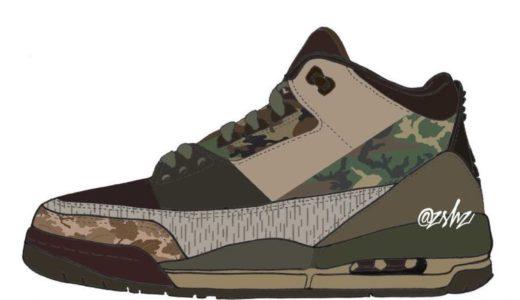 """【Nike】Air Jordan 3 Retro """"Camo""""が2021年後半に発売予定"""