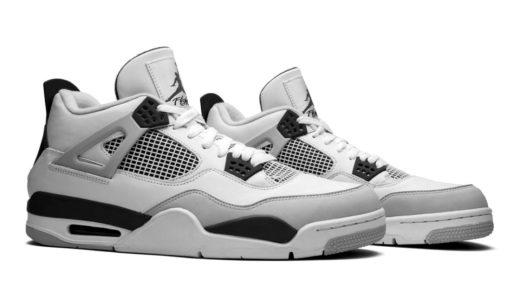 """【Nike】Air Jordan 4 Retro """"Military Black""""が2022年夏に復刻発売予定"""