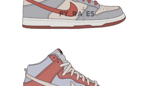 """【Nike】Dunk Low & High Retro PRM """"Fossil Rose"""" Packが2022年春に発売予定"""