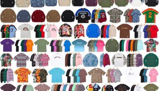 【Supreme】2021FWコレクションに発売予定のトップス & セーター(Tops/Sweaters)